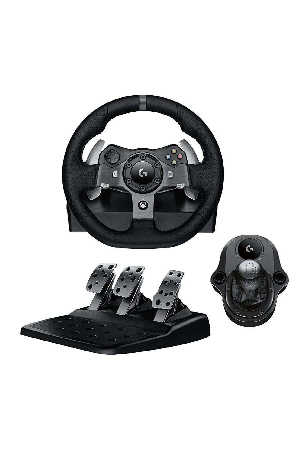 Pack Logitech volant et pédales Logitech G920 Driving Force pour PC et Xbox + Levier de vitesse