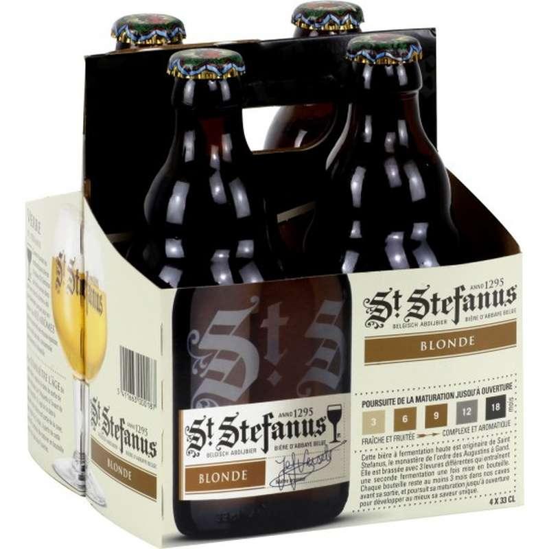 30% de réduction sur les packs de 4 bières St Stefanus (et mikkeler, meantime...) - Ex: Lot de 4 bières blondes St Stefanus (33cl)