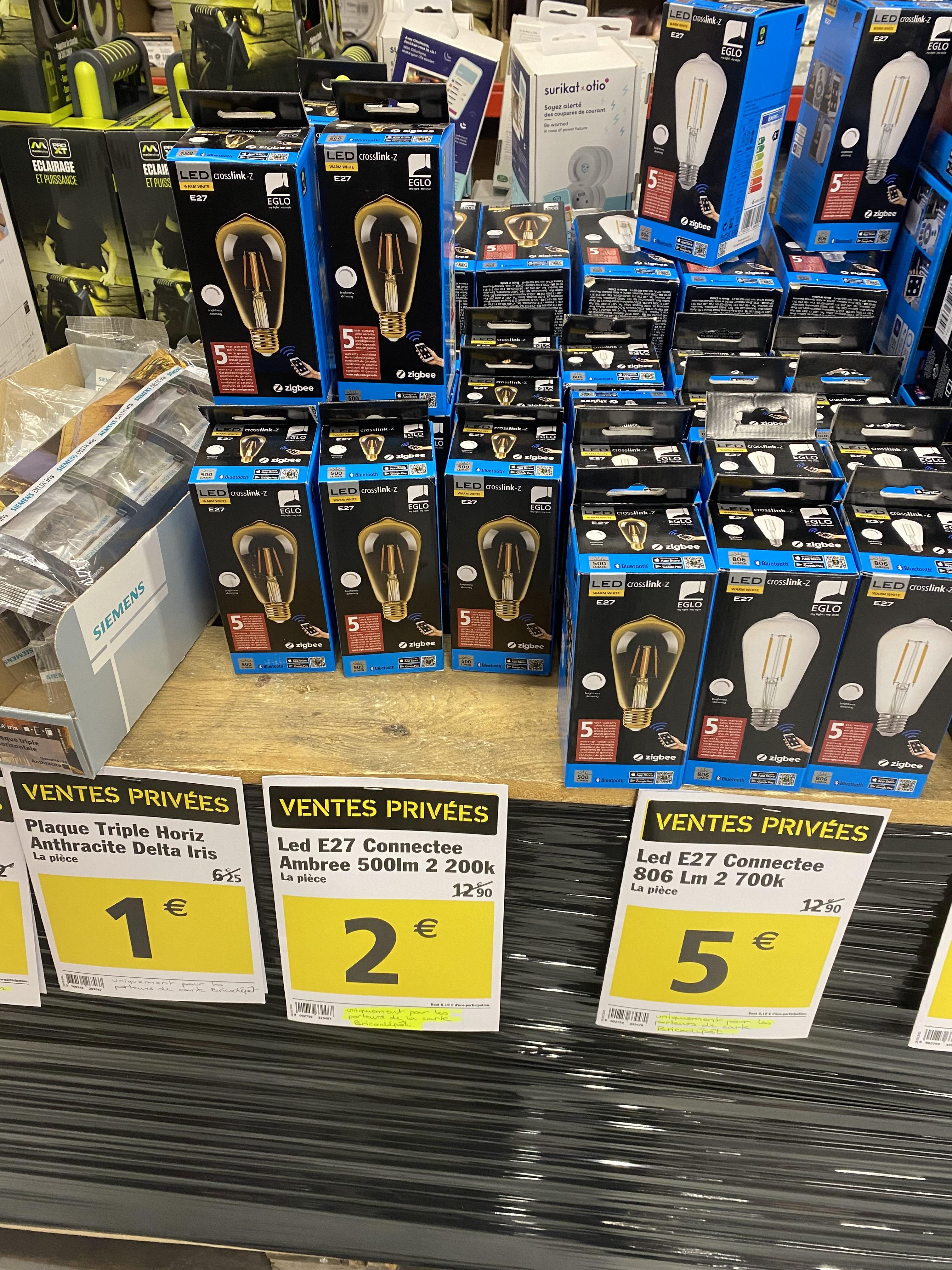 Ampoule LED connectée Eglo Crosslink-Z - E27, 500lm, Zigbee - Brest (29)