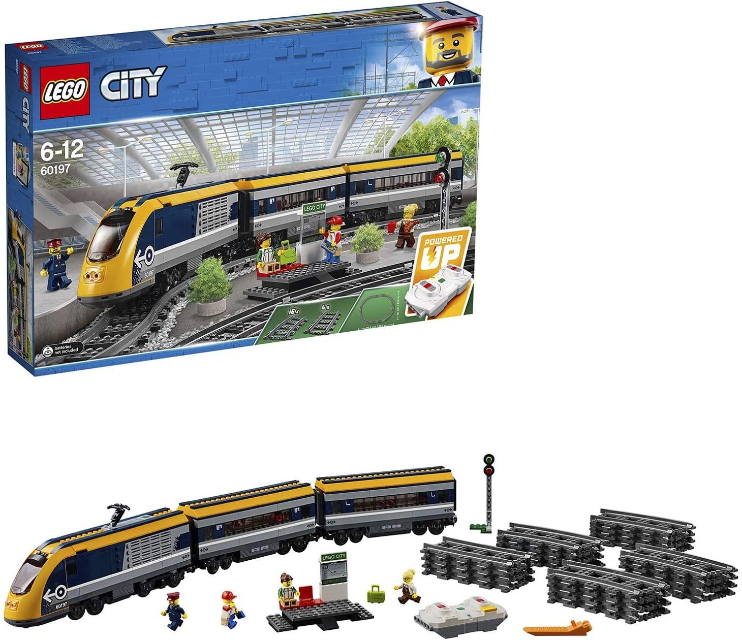 Jouet Lego City - Le train de passagers télécommandé (60197)
