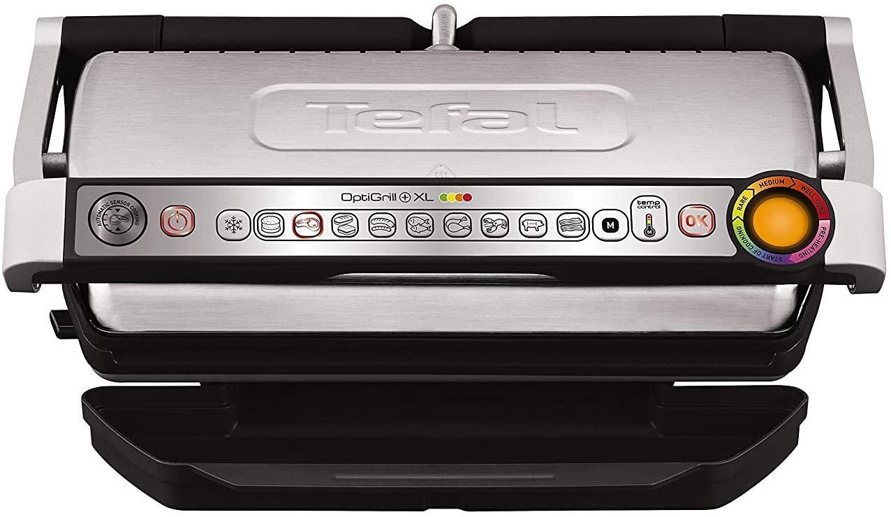Grill électrique Tefal Optigrill XL GC722D Inox/Noir - 2000W, Modèle XL