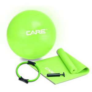 Kit Pilates Care : Ballon + Tapis + Anneau + Pompe