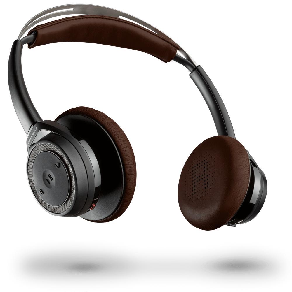Casque Supra-Auriculaire Sans-fil Plantronics Backbeat Sense Black / Espresso - Bluetooth
