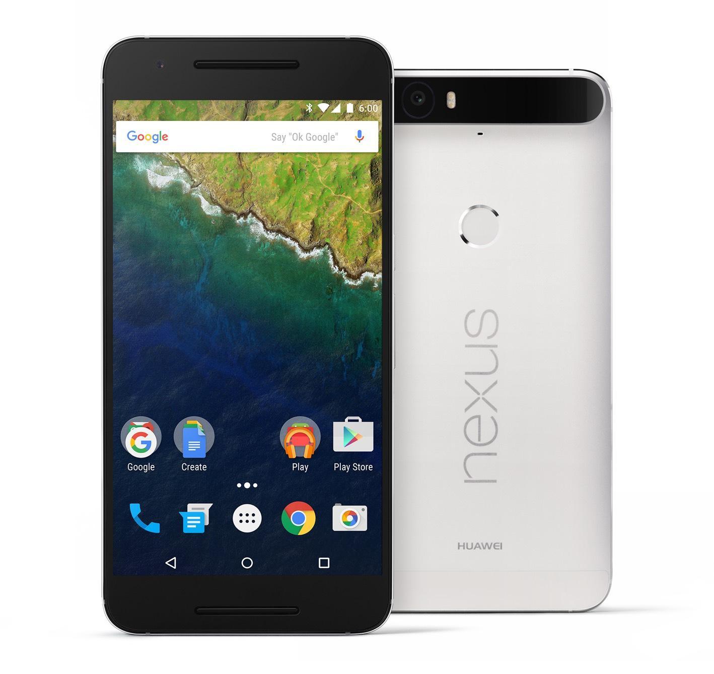 "Smartphone 5.7"" Huawei Nexus 6P Blanc - 2560x1440, Snapdragon 810 2.0GHz, RAM 3Go, 64 Go, Android 6.0"