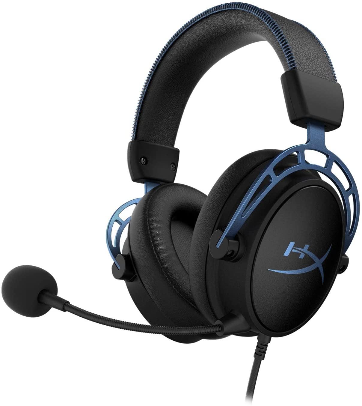 Micro-Casque HyperX Cloud Alpha S (Noir/bleu) - Virtual Surround 7.1, basses réglables