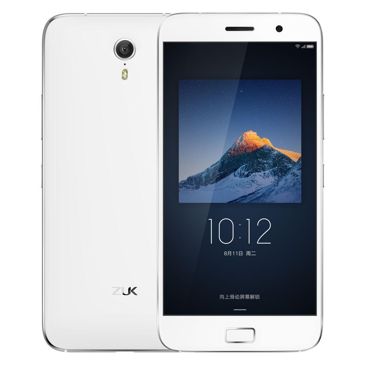 "Smartphone 5.5"" Lenovo ZUK Z1 Dual Sim  Blanc - IPS 1920x1080, Snapdragon 801 2.5GHz, RAM 3Go, 64Go, Cyanogen 12.1 + Écran en verre trempé 9C41"
