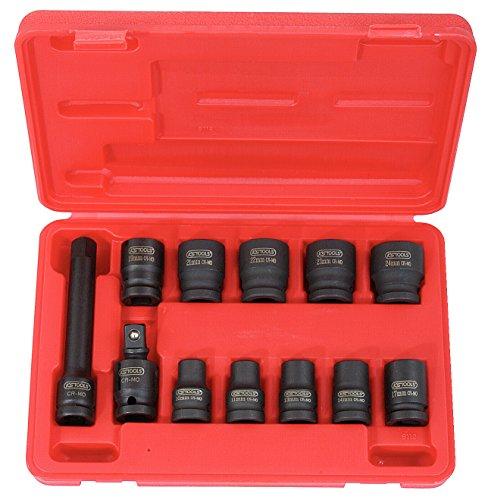 Coffret de douilles à chocs 1/2'' KS Tools 515.0112 (10 douilles à chocs 6 pans 1/2'' + cardan + rallonge)