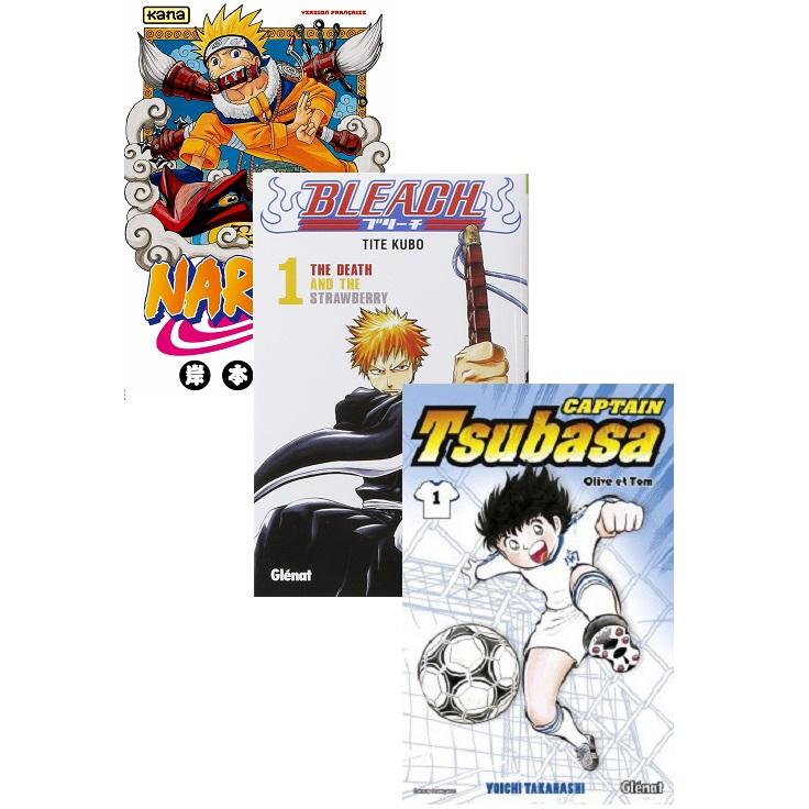 Sélection de mangas à 3€ l'unité (2,85€ en retrait magasin) - Naruto, Bleach, Fairy Tail, Captain Tsubasa, Seven Deadly Sins