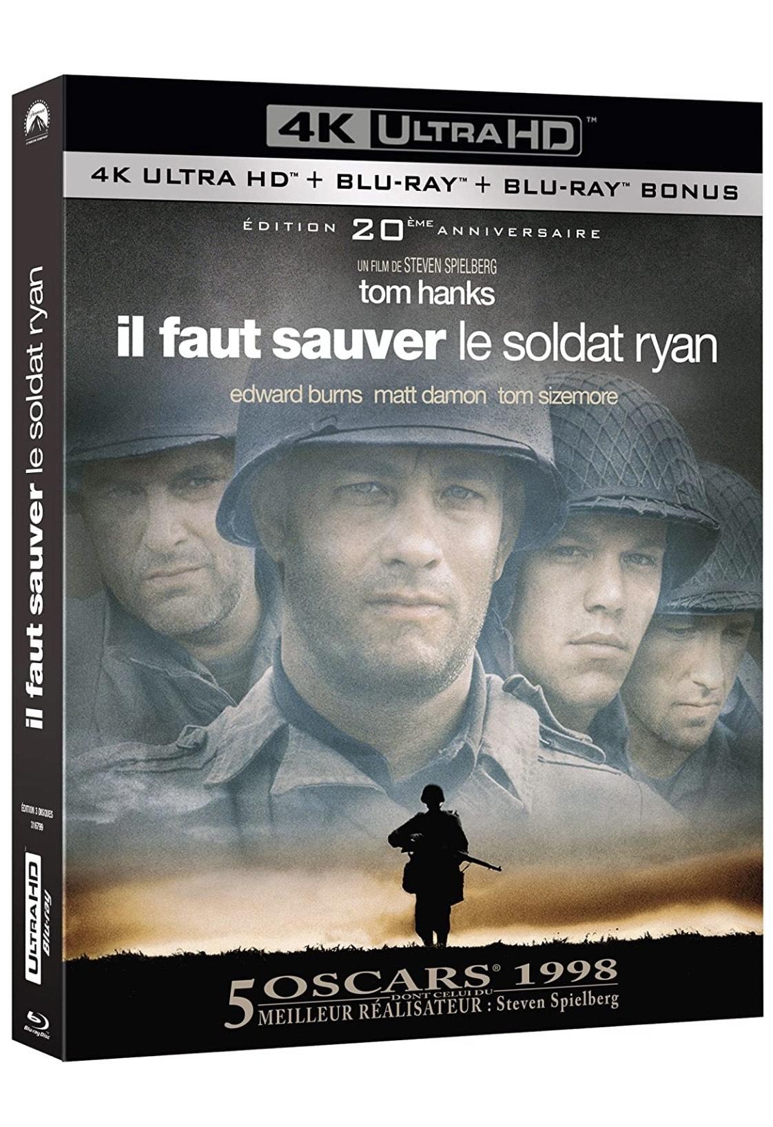 Blu-ray 4K Il faut sauver le soldat Ryan