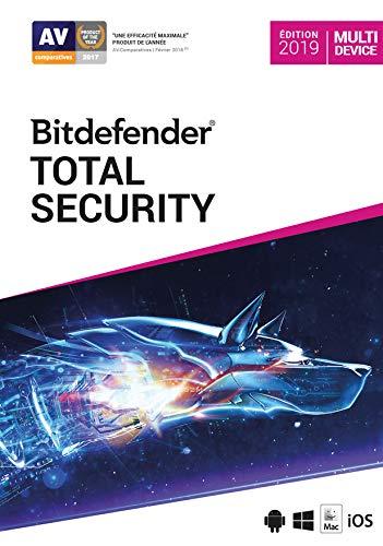 Logiciel antivirus Bitdefender Total Security 2021 - licence 2 ans, 10 appareils (dématérialisé)