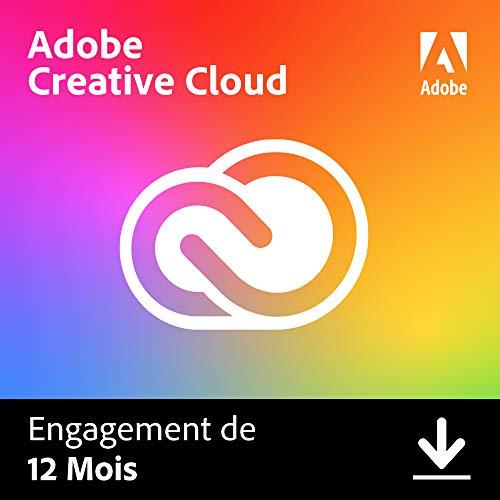 1 an d'abonnement à Adobe Creative Cloud sur PC / MAC (Dématérialisé)