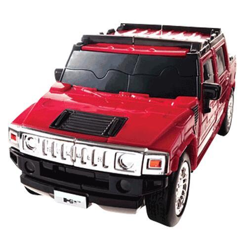 Puzzle 3D Hummer, Rouge, 1:32