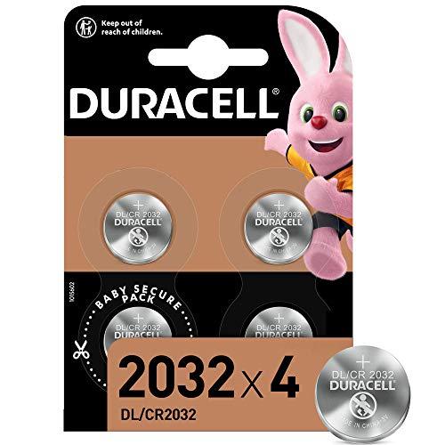 Lot de 4 Piles bouton lithium Duracell 2032 - 3V