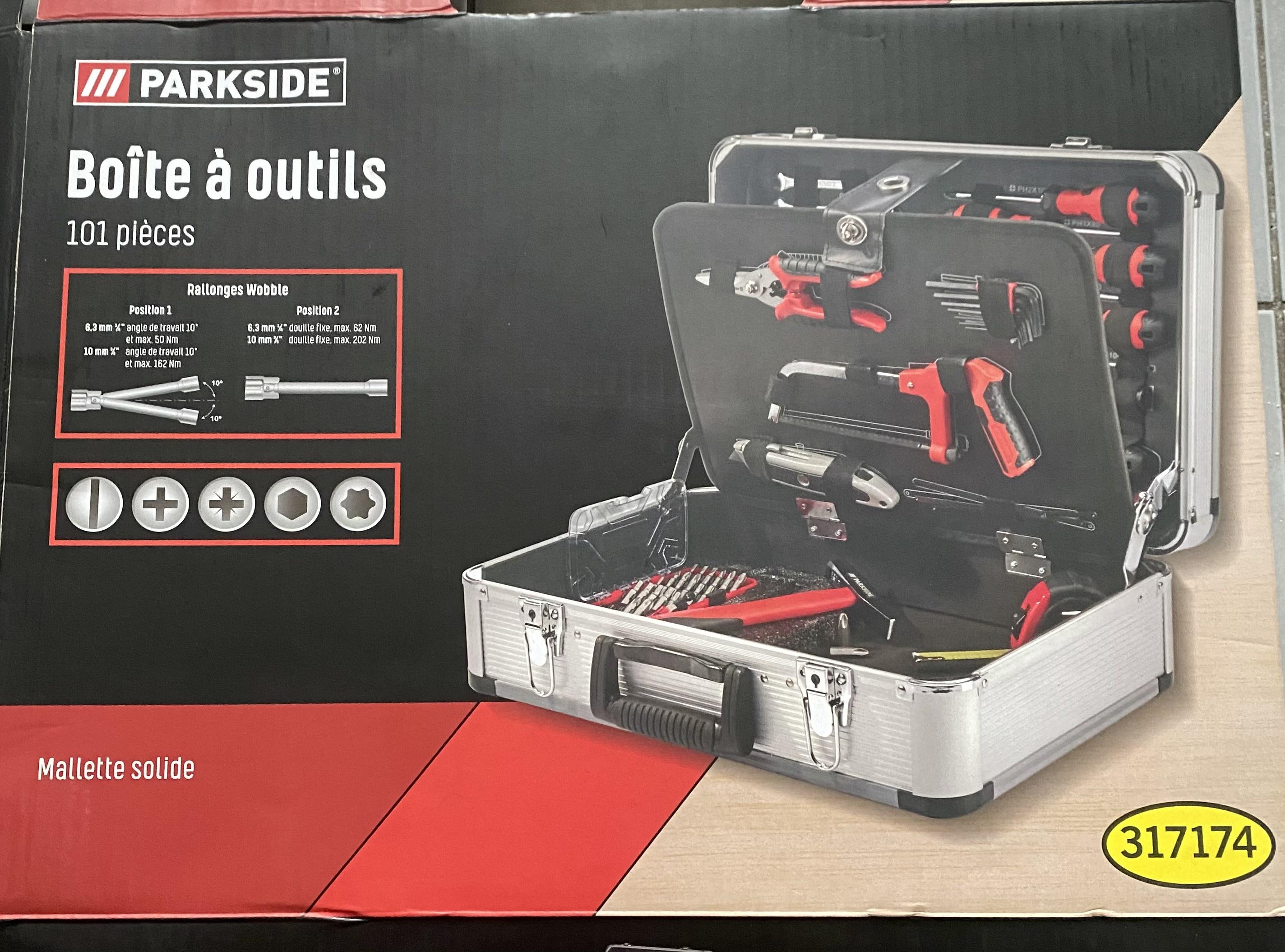 Boîte à outils ParkSide (101 pièces) - Proville (59)