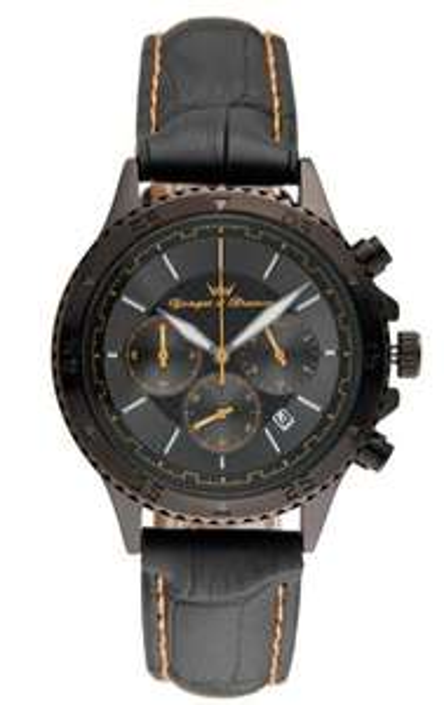 Sélection des montres Yonger & Bresson en promotion - Ex : Montre à quartz en cuir - Noir et orange