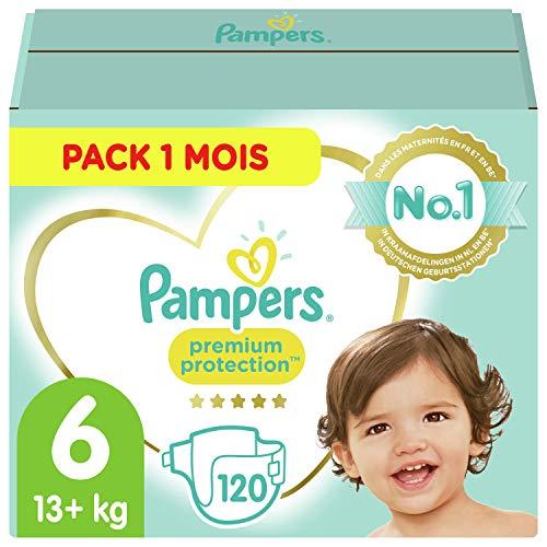Paquet de 120 couches Pampers Premium - Taille 6