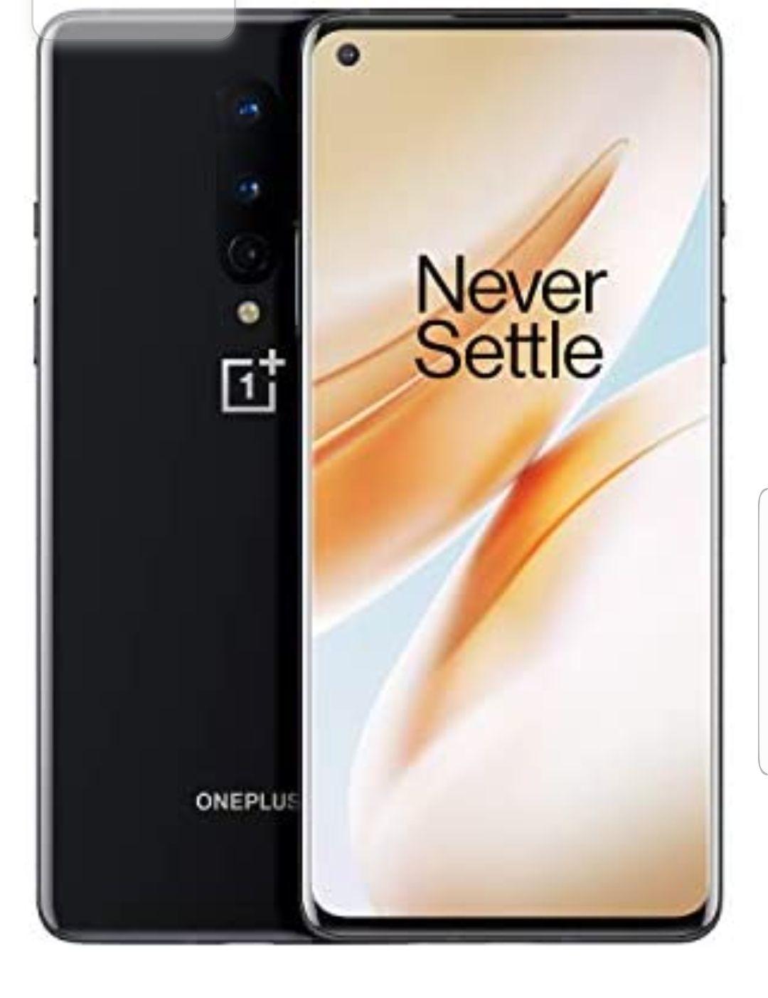 """Smartphone 6.55"""" OnePlus 8 5G - Full HD+ 90 Hz, SnapDragon 865, 8 Go de RAM, 128 Go, Noir (Frais d'importation inclus)"""