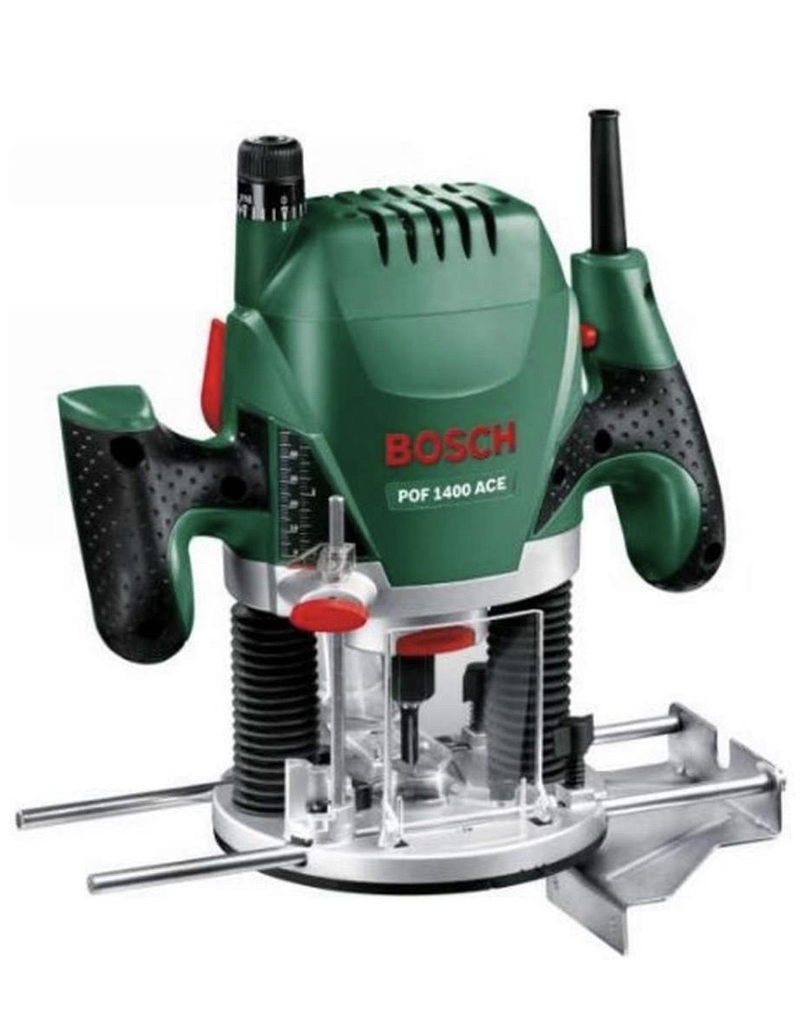 Défonceuse filaire Bosch Pof 1400 ACE avec Kit d'accessoires - 1400W, 11000 à 28000 rpm