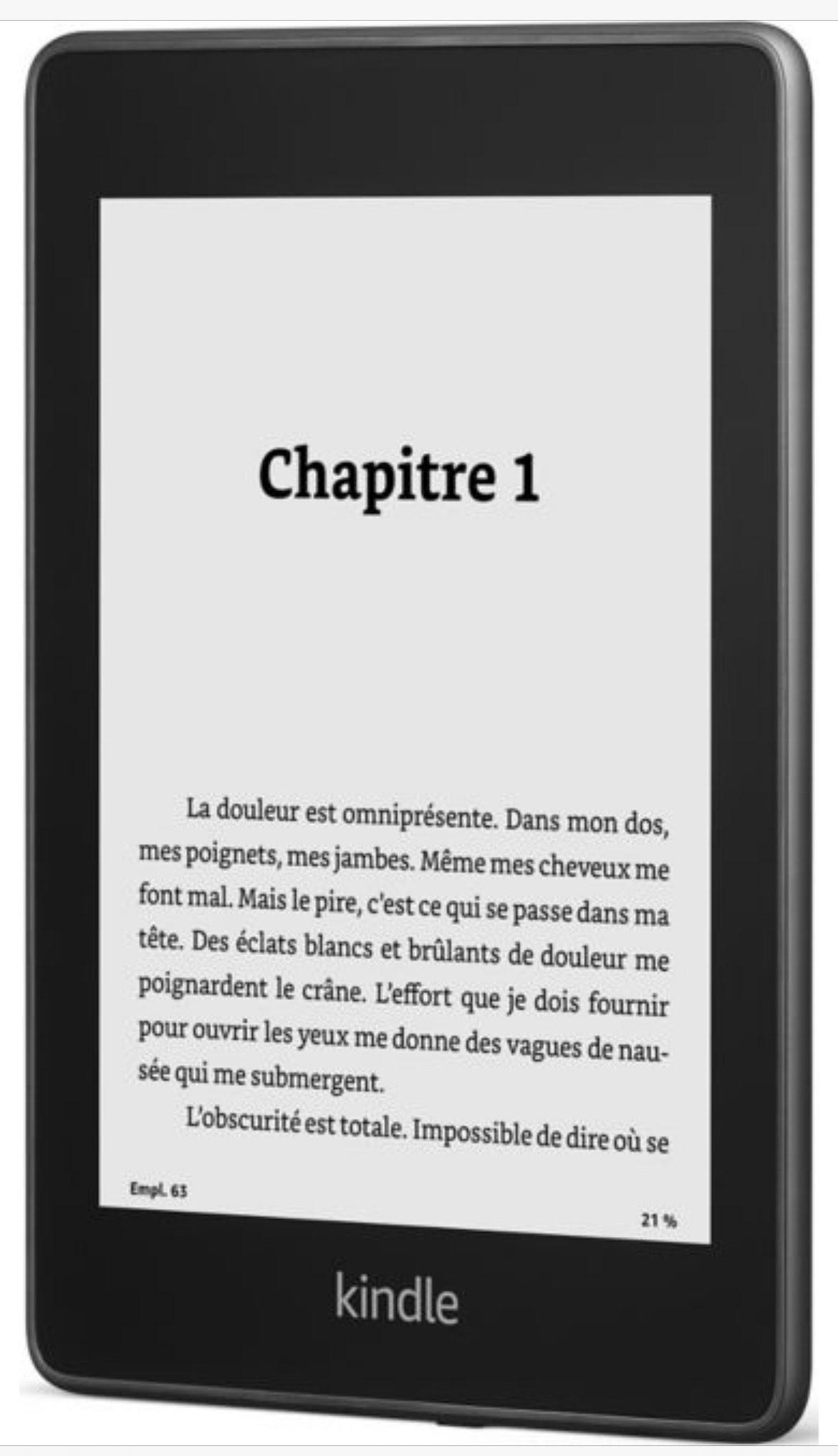 """Liseuse eBook 6"""" Amazon Kindle Paperwhite Noire - 8 Go, avec publicités (+ 2.70€ en Rakuten Points) - Boulanger"""