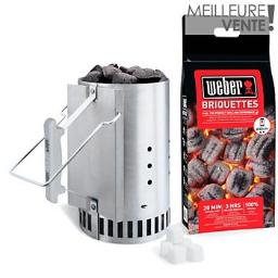 15% de remise sur une sélection de produits Weber - Ex: Kit cheminée d'allumage Weber Cheminée allumage à 25,49€
