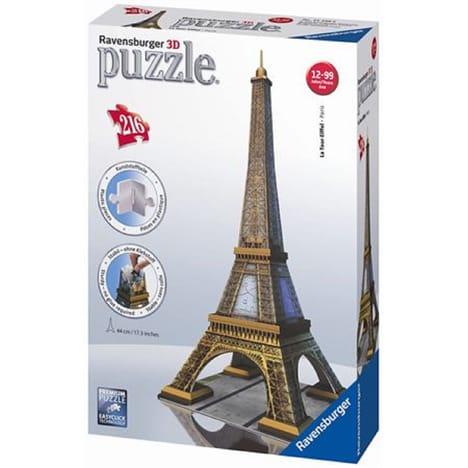 2 Puzzles 3D Ravensburger Tour Eiffel (Via 11€ sur Carte Fidélité + ODR)