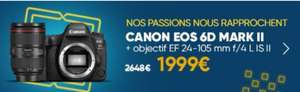 Appareil photo Reflex EOS 6D Mark ll + Objectif Canon EF 24-105 mm f/4 L IS II USM - Noir (Via ODR)