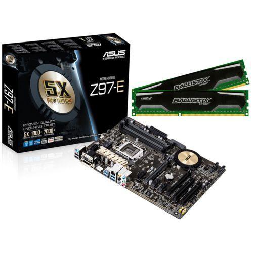 Carte mère Asus Z97-E + kit Mémoire Crucial Ballistix Sport 8 Go (2x4 Go) - DDR3-1600 CL9