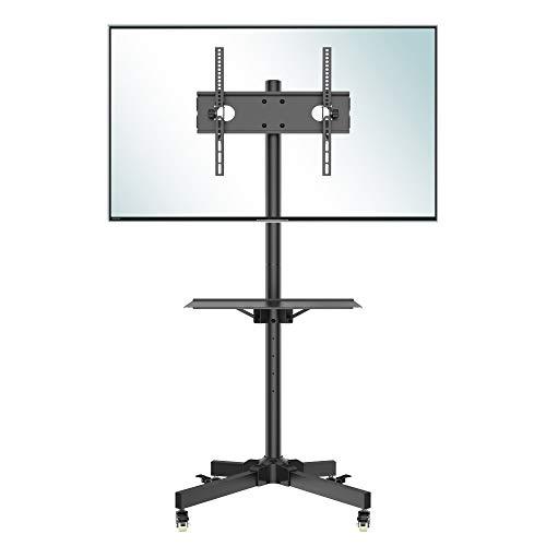 Support TV sur roulettes Bontec - 23 à 55 Pouces, Hauteur 800-1500 mm, VESA Max 400x400 mm (Vendeur tiers)