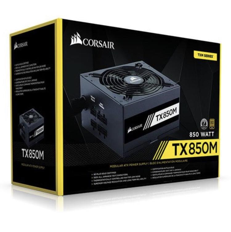 Alimentation PC modulaire Corsair TX850 850W - 80 Plus Gold