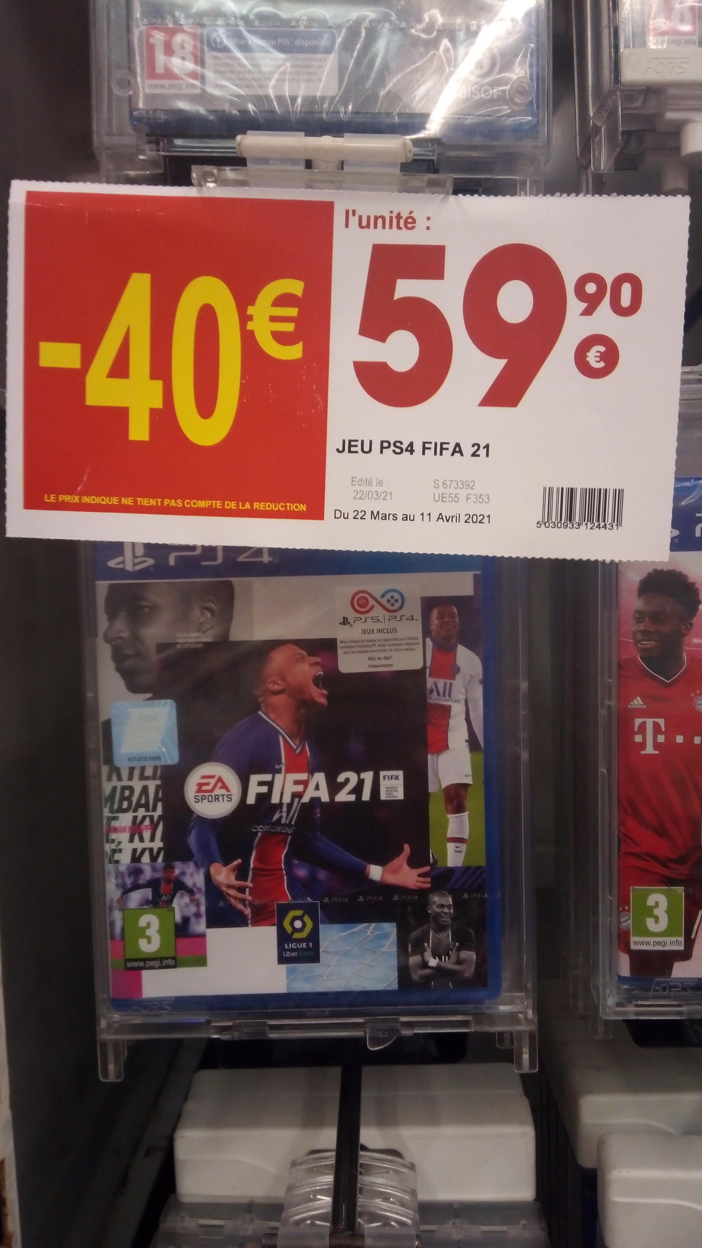 FIFA 21 sur PS4 (Compatible PS5) & Xbox One - Vals-prés-le-Puy (43)