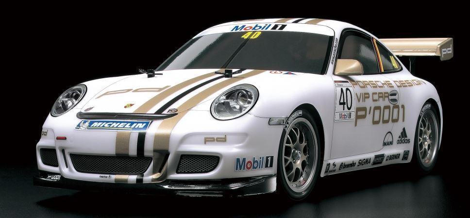 Voiture radiocommandée Tamiya TT-01E Porsche 911 GT3 Cup VIP 2008 KIT 47429 (t2shop.de)