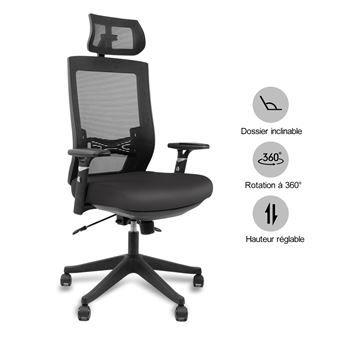 Chaise de bureau ergonomique Aiidoits - Noir (vendeur tiers)