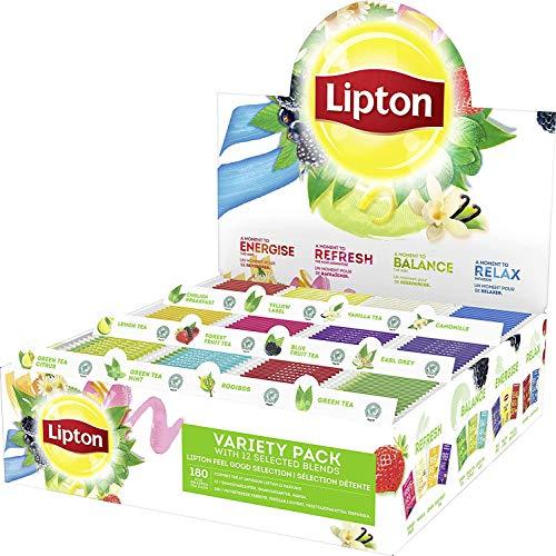 Coffret de 180 sachets de thé Lipton Variety Pack - 12 parfums différents