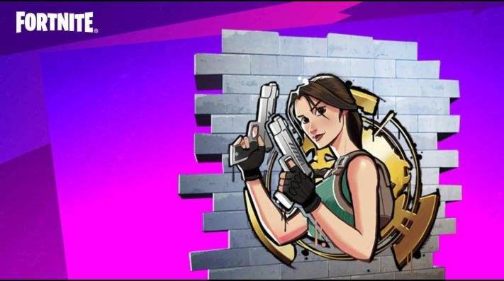 Spray Lara Croft offert pour Fortnite (Dématérialisé)