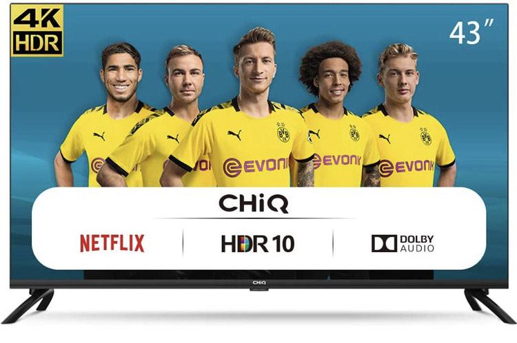"TV 43"" Chiq U43H7L - Smart TV, LED, UHD 4k, HDR10 (Vendeur Tiers)"