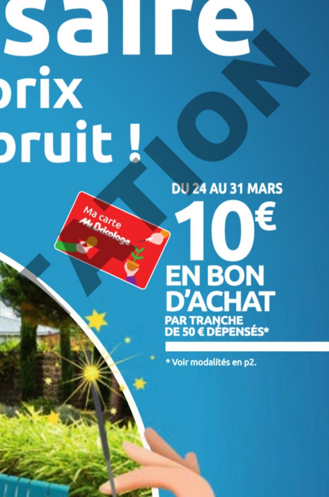 10€ offerts en bon d'achat par tranche de 50€ dépensés - Toulon (83)