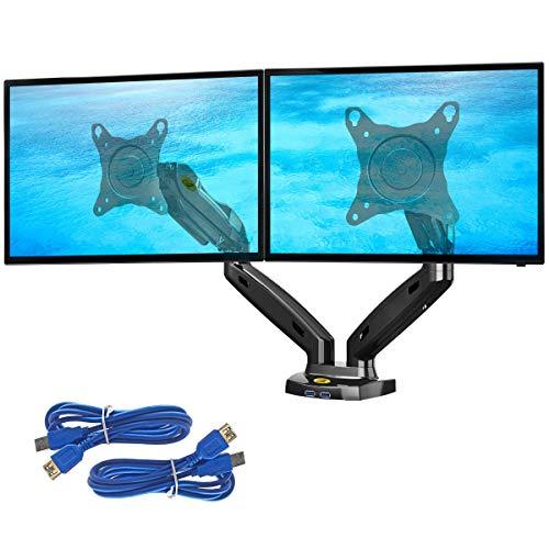 """Support double écran de 17"""" à 27"""" Ergosolid - VESA 75 - 100"""