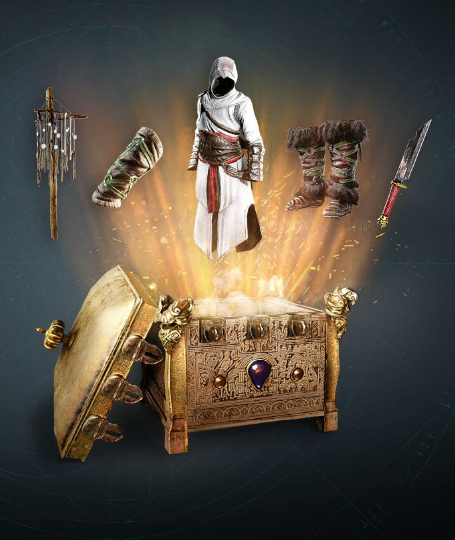 Contenu gratuit pour Assassin's Creed Valhalla: Tenue d'Altaïr - Récompenses du Festival de Yule & 300 opales (PC et consoles)
