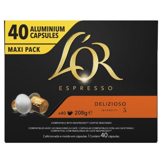 3 Boites de 40 capsules L'Or Espresso (diverses variétés)