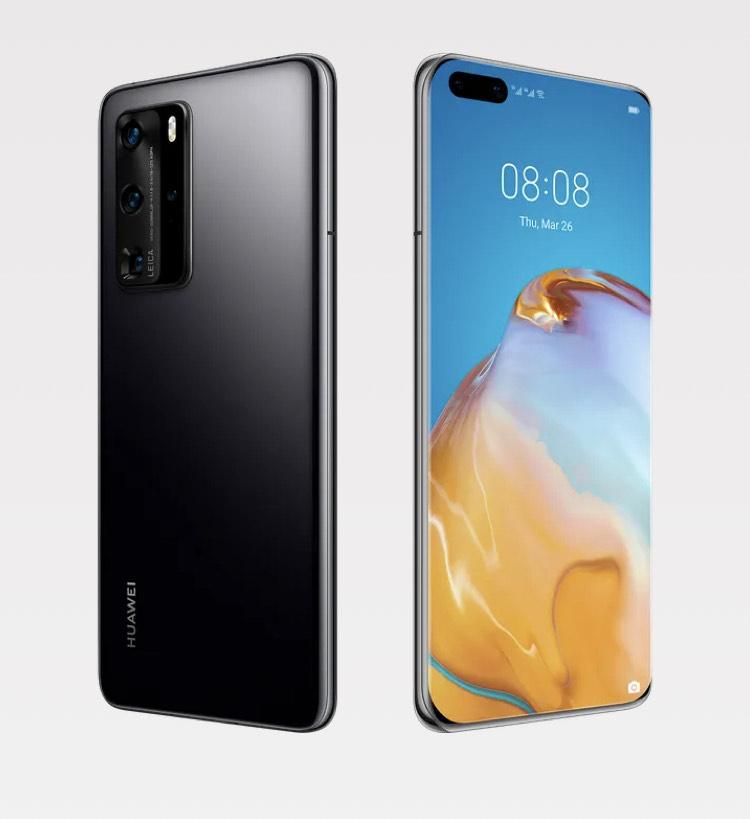 """Smartphone 6.58"""" Huawei P40 Pro - 5G, 8 Go RAM, 256 Go, Noir, Sans services Google"""