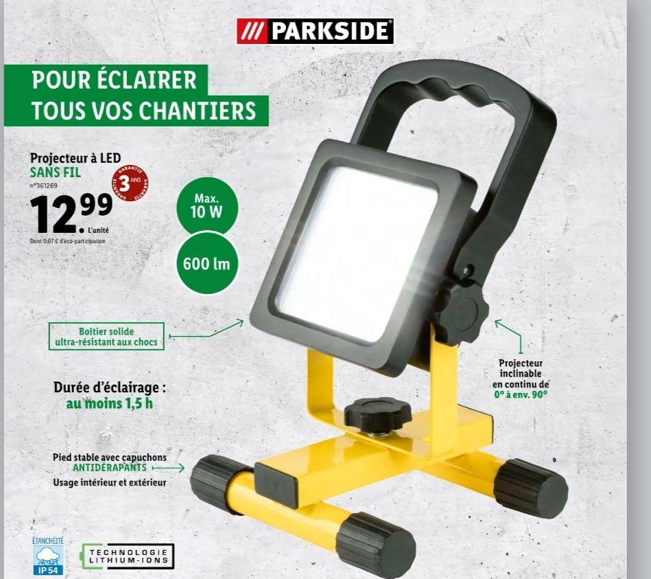 Projecteur sans-fil à LED Parkside - 600lm
