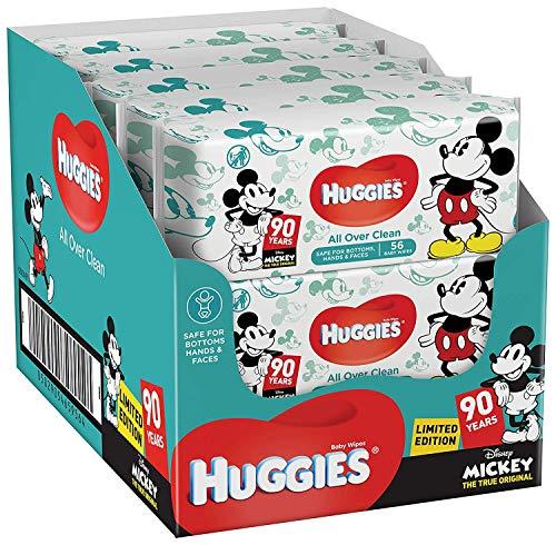 Lingettes bébé Huggies All Over Clean Disney pour fesses, visage et mains - Motifs Disney (10x56 Lingettes)