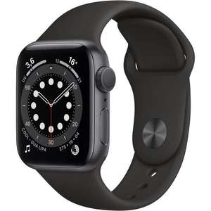 Montre connectée Apple Watch Series 6 (GPS) - 40 mm, Aluminium gris avec Bracelet sport noir (330€ avec RAKUTEN15 + 9.90€ en Rakuten Points)