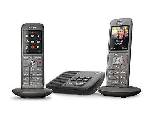 Téléphones fixes sans fil Gigaset CL660A Duo - 2 combinés, gris anthracite