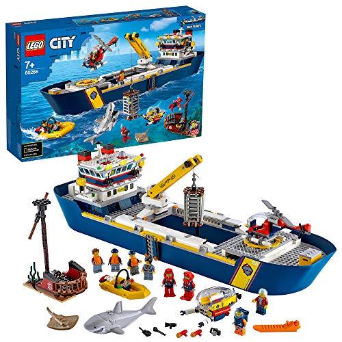 Jouet Lego City - Le bateau d'exploration océanique (60266)