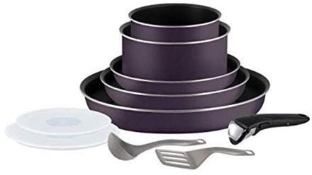 Batterie de cuisine Tefal Ingenio Essential - 3 poêles + 2 casseroles + 1 poignée + 4 accessoires (sauf induction)