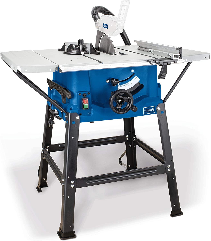 Scie circulaire sur table Scheppach - 2000W, 254mm avec rallonges de table