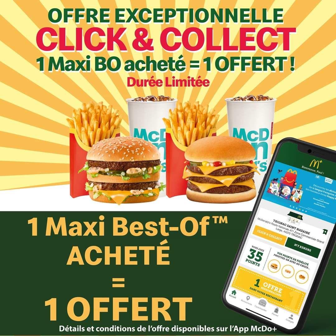 1 Menu Maxi Best of acheté = 1 Menu Maxi Best of offert (Trignac 44)