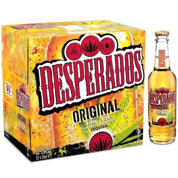 2 Packs de 12 bouteilles de bière Desperados - 33 cl