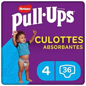 Culottes absorbantes Huggies Pull-Ups - taille 4 (9-18 mois), 36 culottes